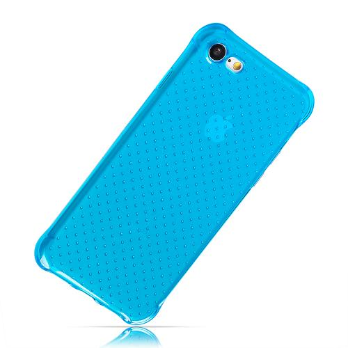 [Apple iPhone 7] (4.7 inch) Case, REDshield [Blue] Durable Anti-shock Crystal Silicone Protective TPU Gel Skin Case Cover