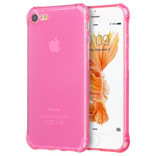 [Apple iPhone 7] (4.7 inch) Case, REDshield [Hot Pink] Durable Anti-shock Crystal Silicone Protective TPU Gel Skin Case Cover