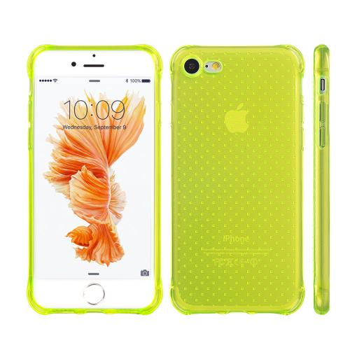 [Apple iPhone 7] (4.7 inch) Case, REDshield [Neon Green] Durable Anti-shock Crystal Silicone Protective TPU Gel Skin Case Cover