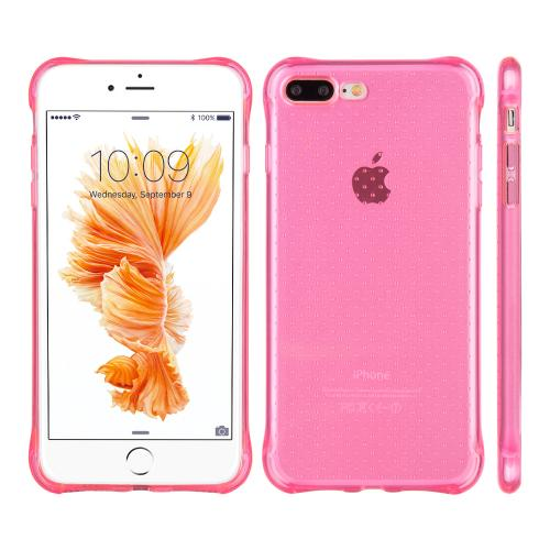 [Apple iPhone 7 Plus] (5.5 inch) Case, REDshield [Hot Pink] Durable Anti-shock Crystal Silicone Protective TPU Gel Skin Case Cover