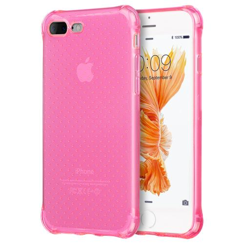Apple iPhone 7 Plus (5.5 inch) Case, REDshield [Hot Pink] Durable Anti-shock Crystal Silicone Protective TPU Gel Skin Case Cover