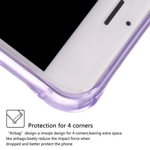 Apple iPhone 7 Plus (5.5 inch) Case, REDshield [Purple] Durable Anti-shock Crystal Silicone Protective TPU Gel Skin Case Cover