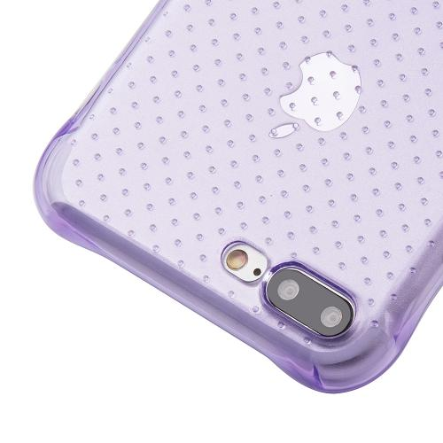 [Apple iPhone 7 Plus] (5.5 inch) Case, REDshield [Purple] Durable Anti-shock Crystal Silicone Protective TPU Gel Skin Case Cover