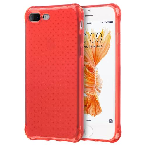[Apple iPhone 7 Plus] (5.5 inch) Case, REDshield [Red] Durable Anti-shock Crystal Silicone Protective TPU Gel Skin Case Cover