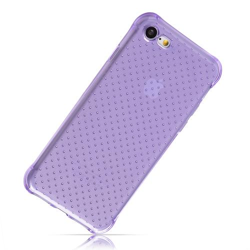Apple iPhone 7 (4.7 inch) Case, REDshield [Purple] Durable Anti-shock Crystal Silicone Protective TPU Gel Skin Case Cover