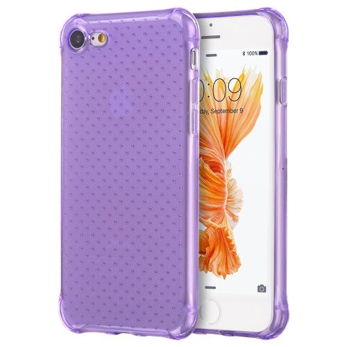 [Apple iPhone 7] (4.7 inch) Case, REDshield [Purple] Durable Anti-shock Crystal Silicone Protective TPU Gel Skin Case Cover