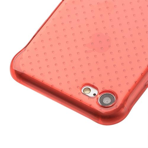 [Apple iPhone 7] (4.7 inch) Case, REDshield [Red] Durable Anti-shock Crystal Silicone Protective TPU Gel Skin Case Cover