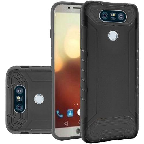 LG G6 Case, Shockproof Protection TPU & PC Hybrid Cover Case [Black] with Travel Wallet Phone Stand
