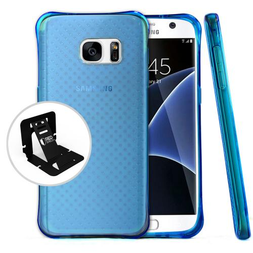 Samsung Galaxy S7  Case, Redshield [Blue]  Durable Anti-shock Crystal Silicone Protective TPU Gel Skin Case Cover