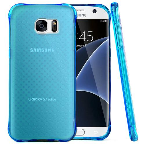Samsung Galaxy S7 Edge Case,  REDshield [Blue] Durable Anti-shock Crystal Silicone Protective TPU Gel Skin Case Cover