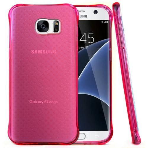 Samsung Galaxy S7 Edge Case,  REDshield [Hot Pink] Durable Anti-shock Crystal Silicone Protective TPU Gel Skin Case Cover