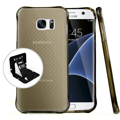 Samsung Galaxy S7 Edge Case,  REDshield [Smoke] Durable Anti-shock Crystal Silicone Protective TPU Gel Skin Case Cover