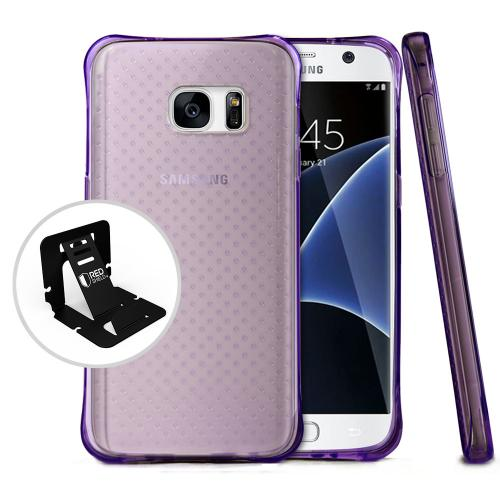 [Samsung Galaxy S7] Case,  REDshield [Purple] Durable Anti-shock Crystal Silicone Protective TPU Gel Skin Case Cover