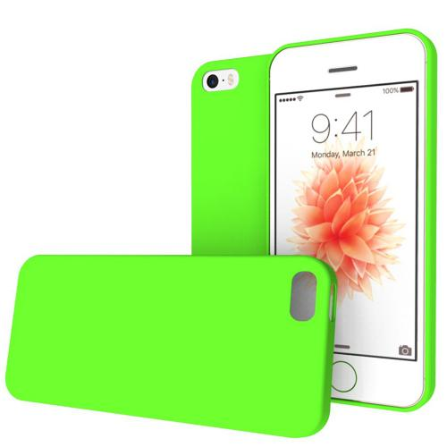 [Apple iPhone SE/5/5S] Case, REDshield [Lime Green] Crayon Series Slim & Flexible Anti-shock Crystal Silicone Protective TPU Gel Skin Case Cover