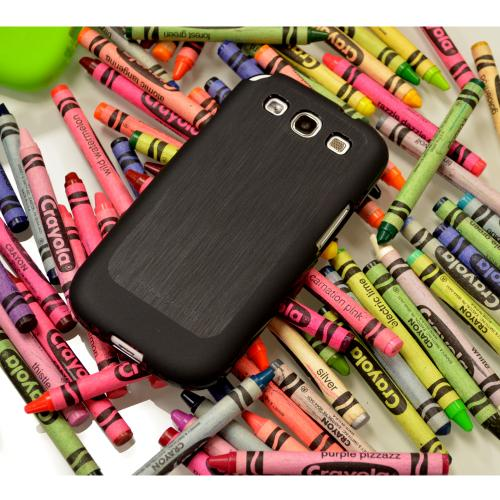 Manufacturers Black Super Premium Anti-Slip Crayon Series Crystal Silicone Case for Samsung Galaxy S3 Skins