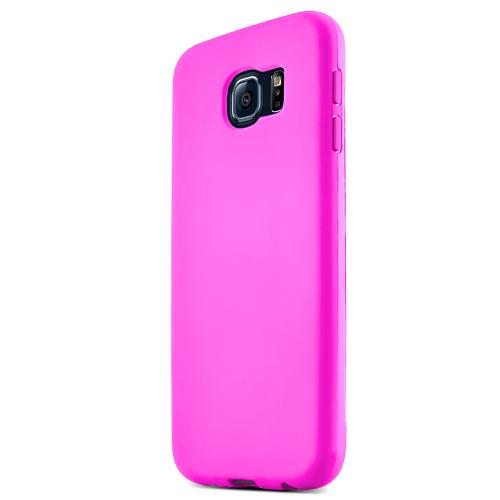 Samsung Galaxy S6 Case,  [Hot Pink] Flip-Open Screen Protector Slim & Protective Case w/ Built-In Scratch Resistant Screen Protector