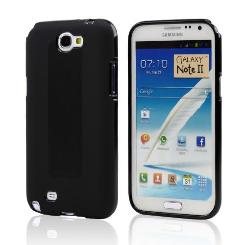 Manufacturers Black Super Premium Anti-Slip Crayon Series Crystal Silicone Case for Galaxy Note 2 Skins
