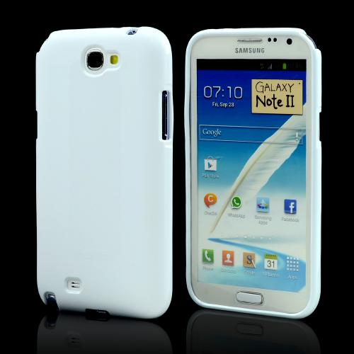 White Super Premium Anti-Slip Crayon Series Crystal Silicone Case for Galaxy Note 2