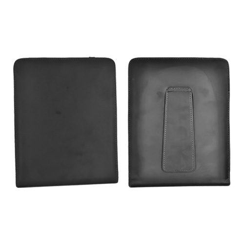 Apple iPad Vertical Leather Flip Open Pouch Case Stand - Black