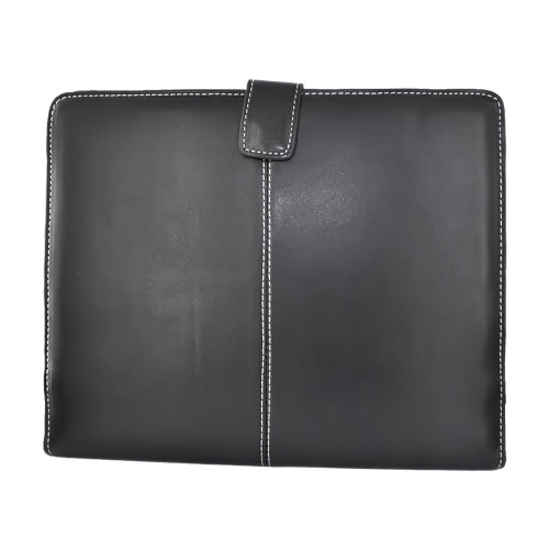Apple iPad (1st Gen) Horizontal Melrose Leather Carry Case w/ Magnetic Flap Closure - Black