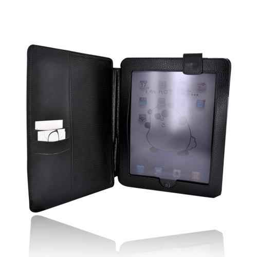 Apple iPad (1st Gen) Leather Case w/ Kickstand - Black