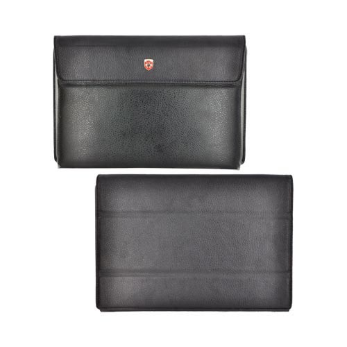 Original Swiss Leatherware Motorola Xoom Leather Stand Case w/ Magnetic Closure - Black