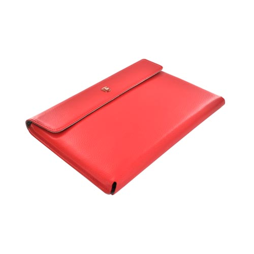 Original Swiss Leatherware Motorola Xoom Leather Stand Case w/ Magnetic Closure - Red