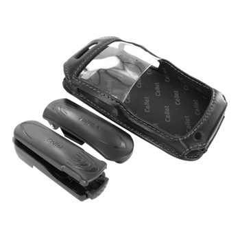 Premium Nokia E71 Leather Case w/ Swivel Belt Clip - Black