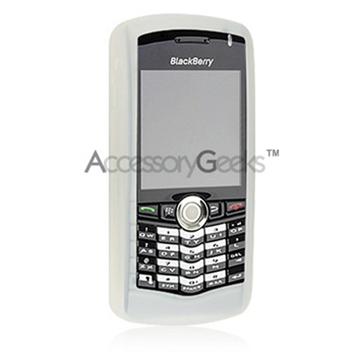 BlackBerry Pearl Silicone Case - Frost White