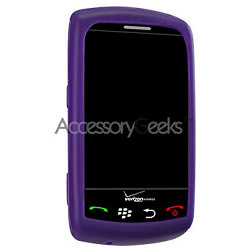 Blackberry Storm Silicone Case, Rubber Skin - Purple