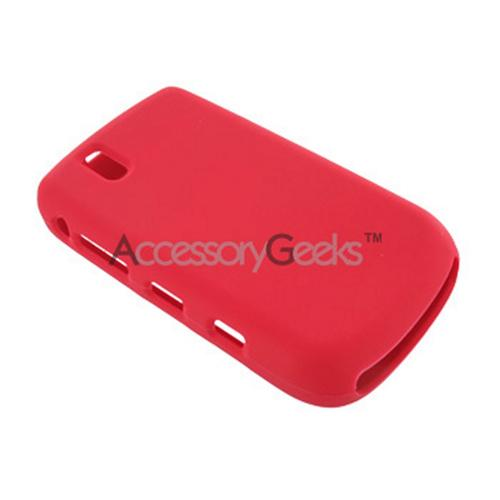 Blackberry Bold 9650 & Tour 9630 Silicone Case, Rubber Skin - Red