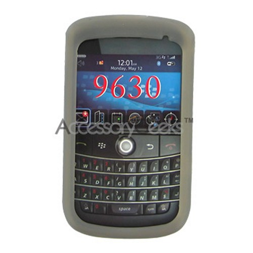 Blackberry Bold 9650 & Tour 9630 Silicone Case, Rubber Skin - Smoke