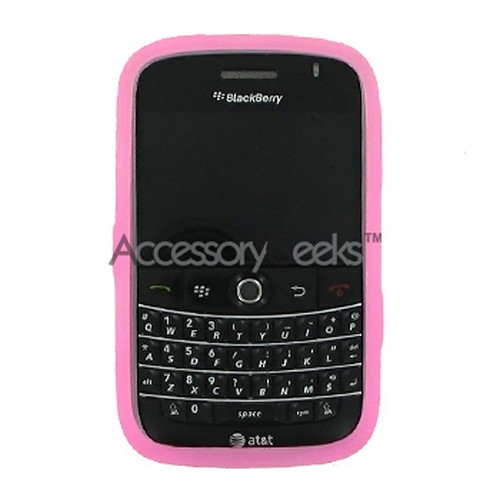 Blackberry Bold Silicone Case, Rubber Skin - Baby Pink