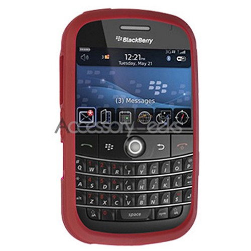 Blackberry Bold Silicone Case, Rubber Skin - Plum