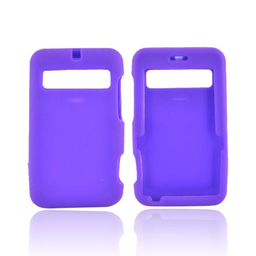 Cricket MSGM8 Silicone Case, Rubber Skin - Purple