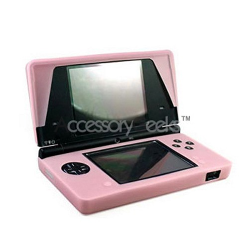 Nintendo Dsi Silicone Case, Rubber Skin - Baby Pink