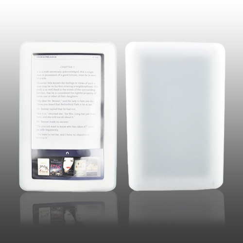 Nook eBook 1 Silicone Case, Rubber Skin - Frost White