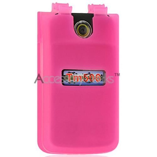 Sony Ericsson TM506 Silicone Case, Rubber Skin - Hot Pink