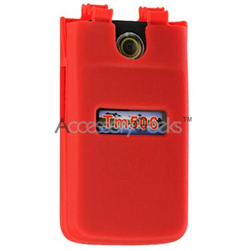 Sony Ericsson TM506 Silicone Case, Rubber Skin - Red