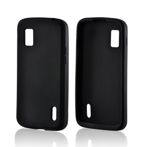 Black Silicone Case for Google Nexus 4