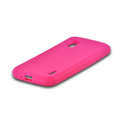 Hot Pink Silicone Case for Google Nexus 4