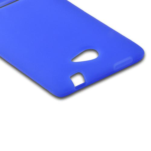 Blue Silicone Case for HTC 8S