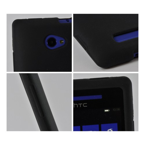 Black Silicone Case for HTC 8X