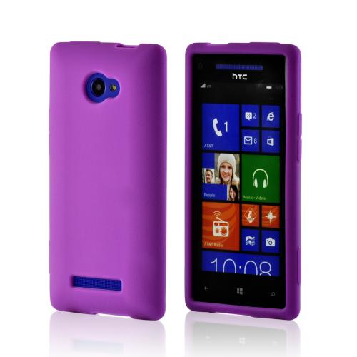 Purple Silicone Case for HTC 8X