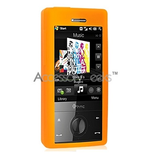 HTC Touch Diamond Silicone Case, Rubber Skin - Orange (CDMA)