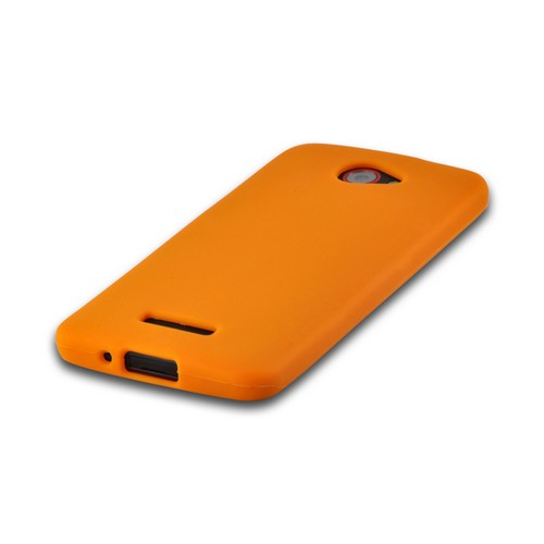 Orange Silicone Case for HTC Droid DNA