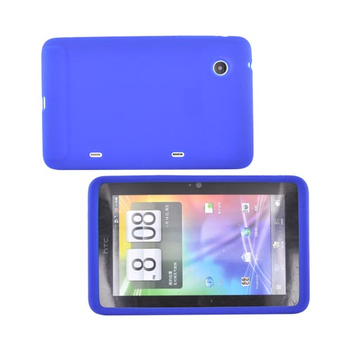 HTC EVO View 4G / HTC Flyer Silicone Case - Blue