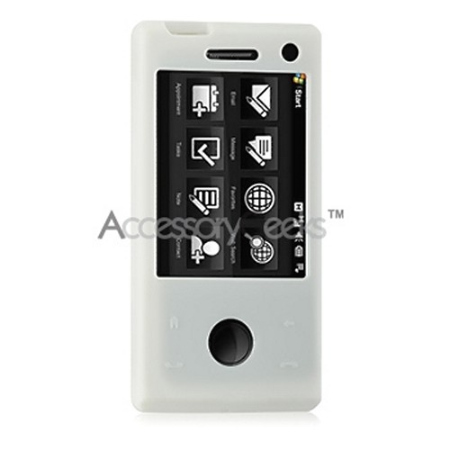 HTC Fuze Silicone Skin, Rubber Case - Solid White