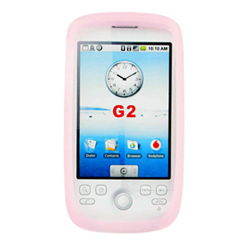 T-Mobile MyTouch 3G Silicone Case, Rubber Skin - Baby Pink