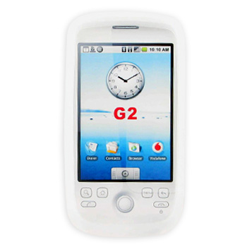 T-Mobile MyTouch 3G Silicone Case, Rubber Skin - Frost White